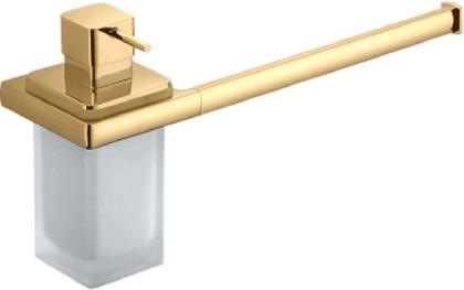 Полотенцедержатель 385мм с дозатором жидкого мыла, золото Colombo LULU B6274.gold