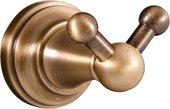 Крючок для полотенец Slezak Rav Morava двойной, бронза MKA0102SM