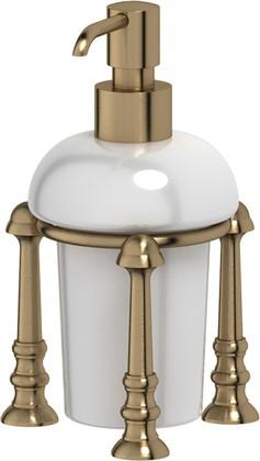 Дозатор для жидкого мыла 3SC Stilmar настольный, фарфор, бронза STI 529