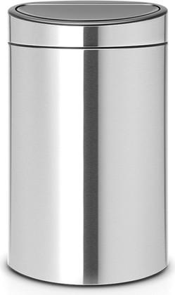 Ведро для мусора 40л, матовая сталь Brabantia Touch Bin 114823
