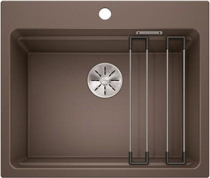 Кухонная мойка Blanco Etagon 6, отводная арматура, кофе 524548