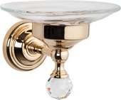Мыльница TW Crystal настенная, стеклянная, с кристаллом swarovski, золото TWCR106oro-new sw