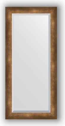 Зеркало 52x112см с фацетом 30мм в багетной раме старая бронза Evoform BY 1148