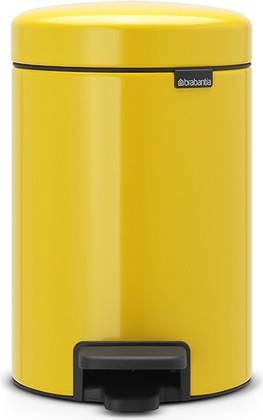 Ведро для мусора с педалью Brabantia Newicon, 3л, желтая маргаритка 113123