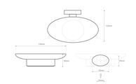 Мыльница Bemeta Oval настольная, металл, хром 118408021
