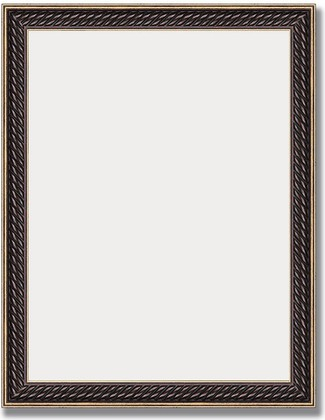 Зеркало 36x46см в багетной раме витой махагон Evoform BY 1328