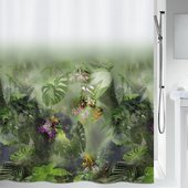 Штора для ванной Spirella Jungle, 180x200см, текстиль, зелёный 1020157