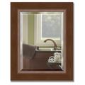Зеркало 42x52см с фацетом 30мм в багетной раме орех Evoform BY 1359
