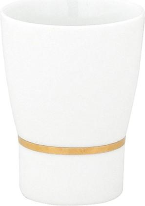 Стакан для зубных щёток Spirella Opera, фарфор, белый с золотым ободком 1009603
