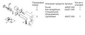 Смеситель настенный встраиваемый однорычажный для раковины без встраиваемого механизма, хром Grohe EUROCUBE 19895000