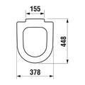 Сиденье для унитаза с крышкой, микролифт, белое Jika Olymp 932843000009