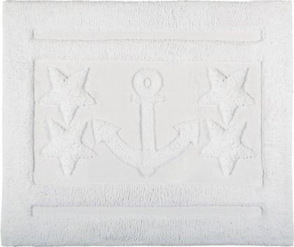 Коврик для ванной комнаты хлопковый 55x65см белый Spirella Anchor Star 1017657