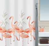Штора для ванной Spirella Flamingo, 180x200см, текстиль, оранжево-розовый 1016355