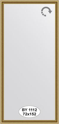 Зеркало 72x152см в багетной раме бусы золотые Evoform BY 1112