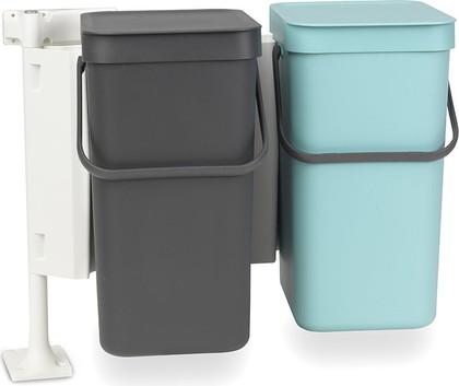 Набор ведер для мусора 12л (2шт) Brabantia Sort&Go 109980