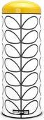 Мусорный бак 20л, белый с рисунком и жёлтой крышкой Brabantia RETRO SLIM Orla Kiely 106781