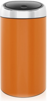 Ведро для мусора 45л оранжевое Brabantia Touch Bin 424625