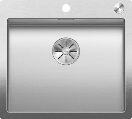 Кухонная мойка Blanco Claron 500-IF/A, отводная арматура, матовая сталь 523393