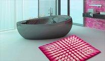 Коврик для ванной Grund Karim 07, 60x60см, полиакрил, розовый 3644.64.145