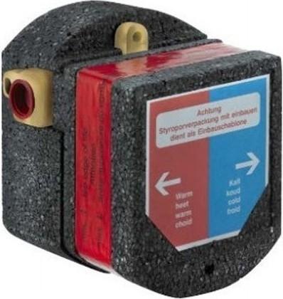 Внутренняя часть электронного смесителя для умывальника, питание от сети Kludi ZENTA 38001