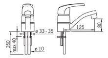 Смеситель однорычажный с поворотным изливом для раковины, хром Oras SAFIRA 1015