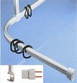 Карниз для ванной угловой 170х70см, белый Spirella OVA 1050250