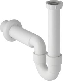 Сифон белый пластиковый трубчатый для кухонной мойки Geberit Uniflex 152.741.11.1