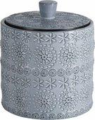 Ёмкость для аксессуаров Spirella Relief фарфор, серый 1020169