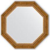 Зеркало Evoform Octagon 630x630 в багетной раме 70мм, состаренная бронза с плетением BY 3674