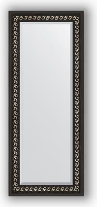 Зеркало 55x135см с фацетом 30мм в багетной раме чёрный ардеко Evoform BY 1155