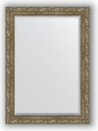 Зеркало с фацетом в багетной раме 75x105см виньетка античная латунь 85мм Evoform BY 3463