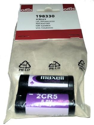 Литиевая батарейка, 2CR5 6 V для сенсорных смесителей Oras 198330