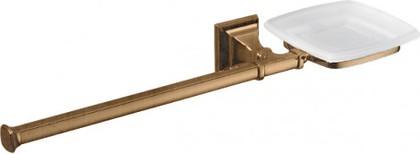 Полотенцедержатель с мыльницей из матового стекла, бронза Colombo PORTOFINO B3274.SX.bronze