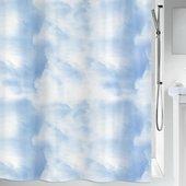 Штора для ванной Spirella Cirrus, 180x200см, текстиль, голубой 1019184