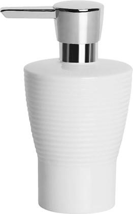 Ёмкость для жидкого мыла белая рельефная Spirella OPERA 1007715