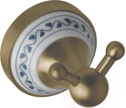 Крючок для полотенец Bemeta Kera двойной, керамика, бронза 144706037