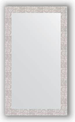 Зеркало в багетной раме 66x116см соты алюминий 70мм Evoform BY 3211
