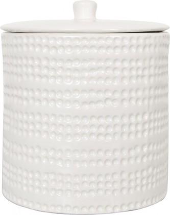 Диспенсер для ватных шариков, дисков керамический белый Spirella Venise 4007035