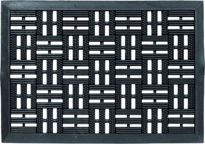 Коврик придверный Golze Dynamic 45х75 черные квадраты, резина 327-30-01