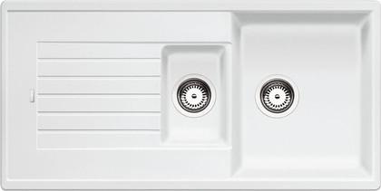 Кухонная мойка оборачиваемая с крылом, гранит, белый Blanco ZIA 6 S 514742