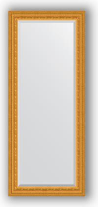 Зеркало 65x155см с фацетом 30мм в багетной раме сусальное золото Evoform BY 1284