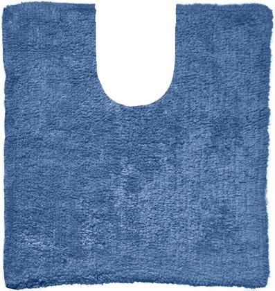 Коврик с вырезом для туалета хлопковый 50x40см синий Spirella Campus 4006793