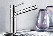 Небольшой кухонный однорычажный смеситель с высоким изливом, хром Blanco ALTA 512319