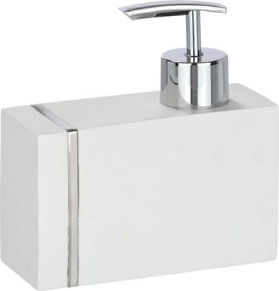 Дозатор для жидкого мыла Wenko Noble настольный, полирезин, белый 20489100