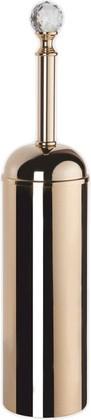 Ёрш для туалета напольный, золото с кристаллом swarovski TW Crystal TWCR020oro-sw