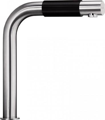Смеситель кухонный с управлением температурой и напором воды с помощью джойстика, матовая нержавеющая сталь Blanco SAGA 519446