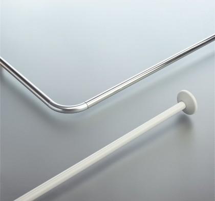 Карниз для ванной 170х75см угловой, белый Spirella Magic-Universal 1028496