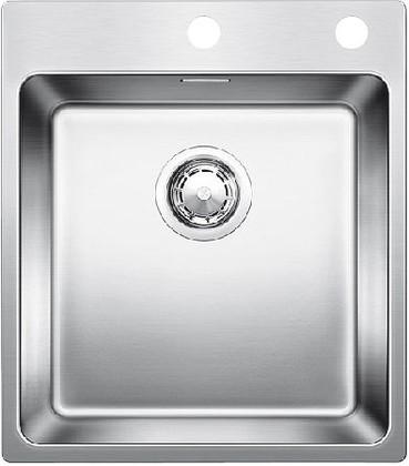Кухонная мойка без крыла, с клапаном-автоматом, нержавеющая сталь полированная Blanco ANDANO 400-IF/A 519555