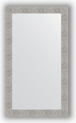 Зеркало в багетной раме 80x140см волна хром 90мм Evoform BY 3313