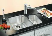 Кухонная мойка основная чаша слева, без крыла, нержавеющая сталь полированная Blanco YPSILON 550-U 518210